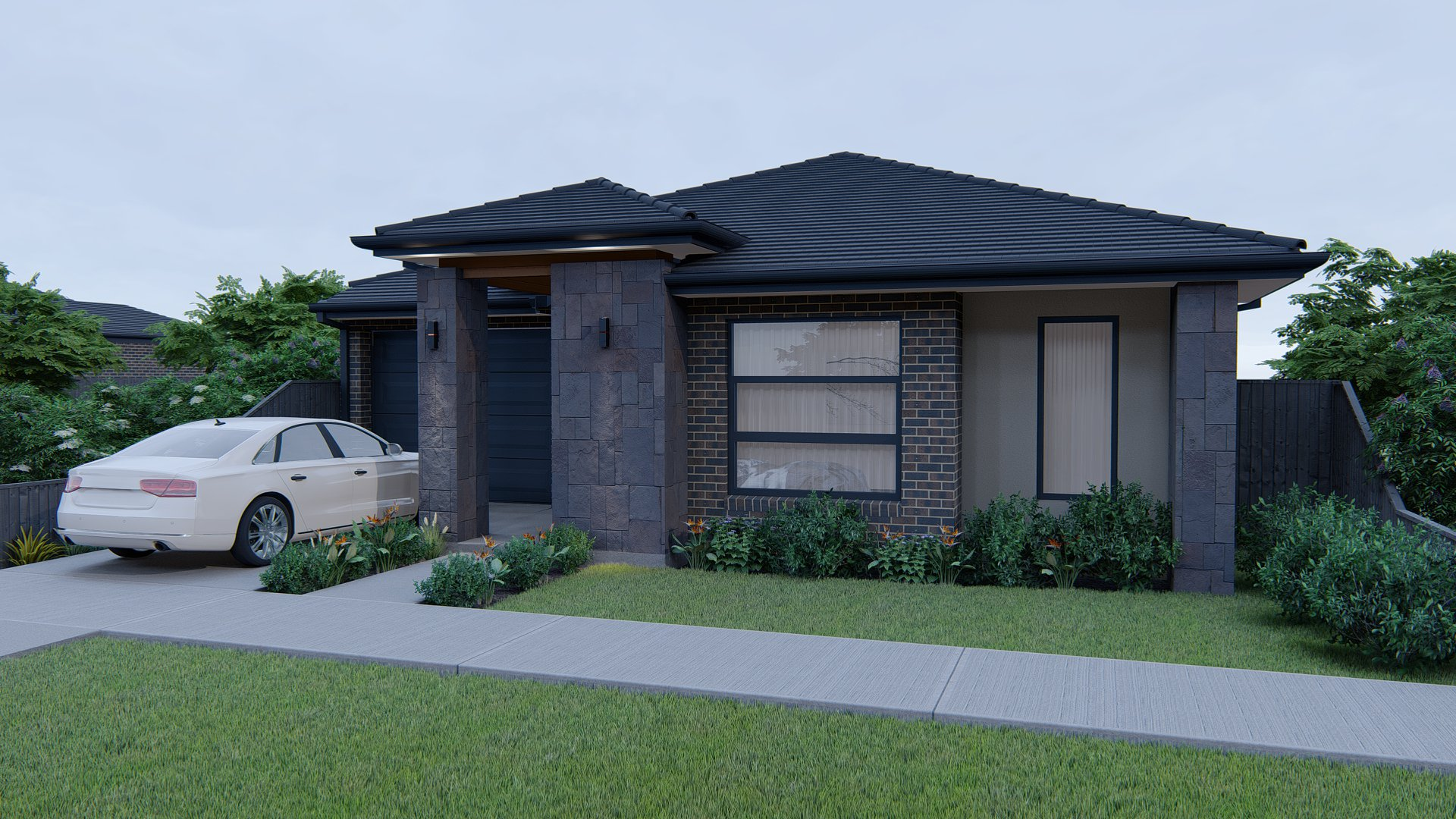 18Sq Kallara with Bluestone Feature hawkeye projects melbourne builder northern suburbs home and land