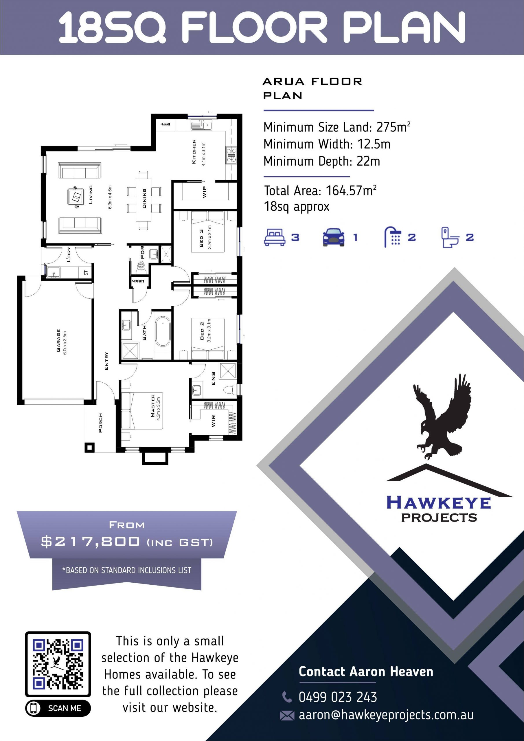 Hawkeye Projects 18SQ home plan