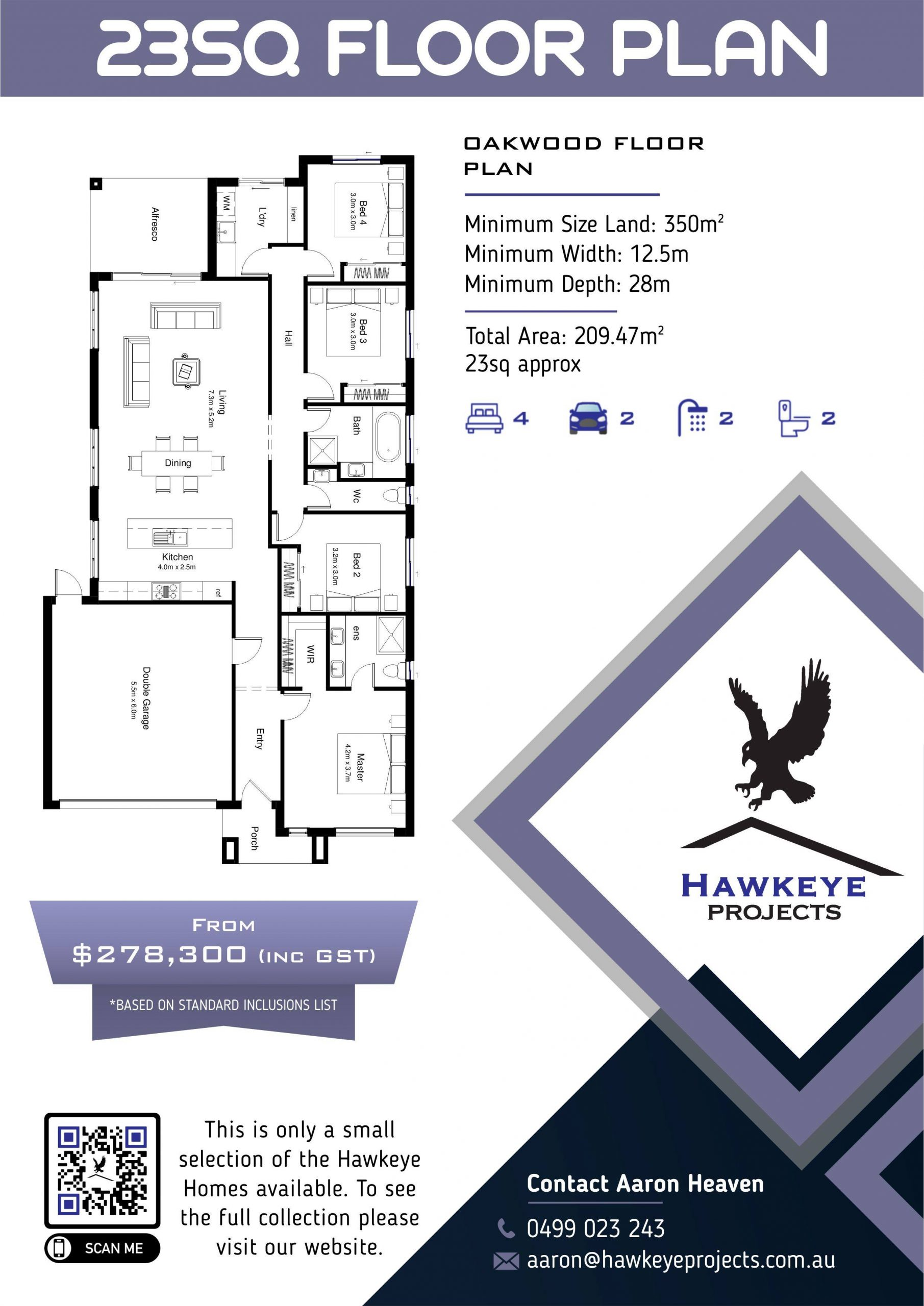 Hawkeye Projects 23SQ home plan