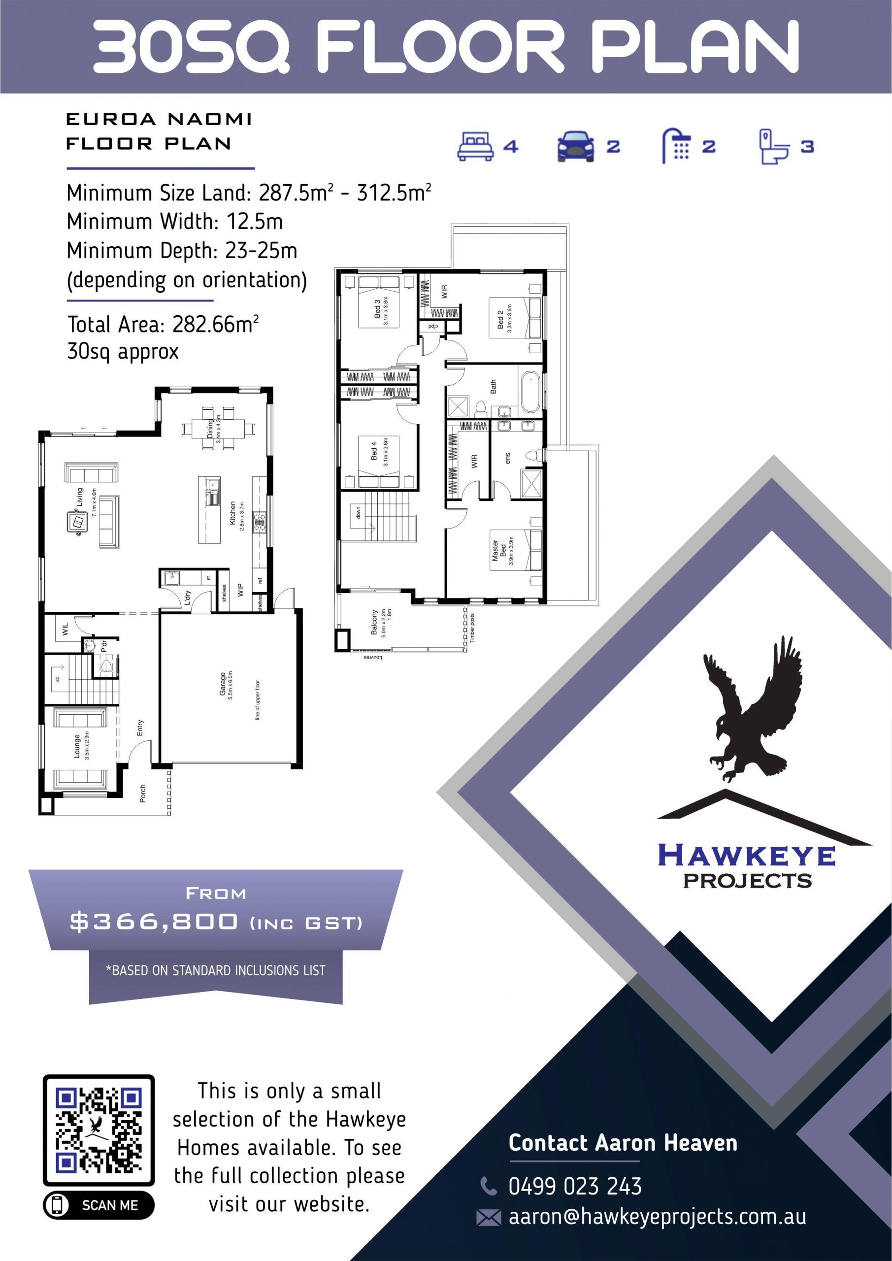 Hawkeye Projects 30SQ home plan