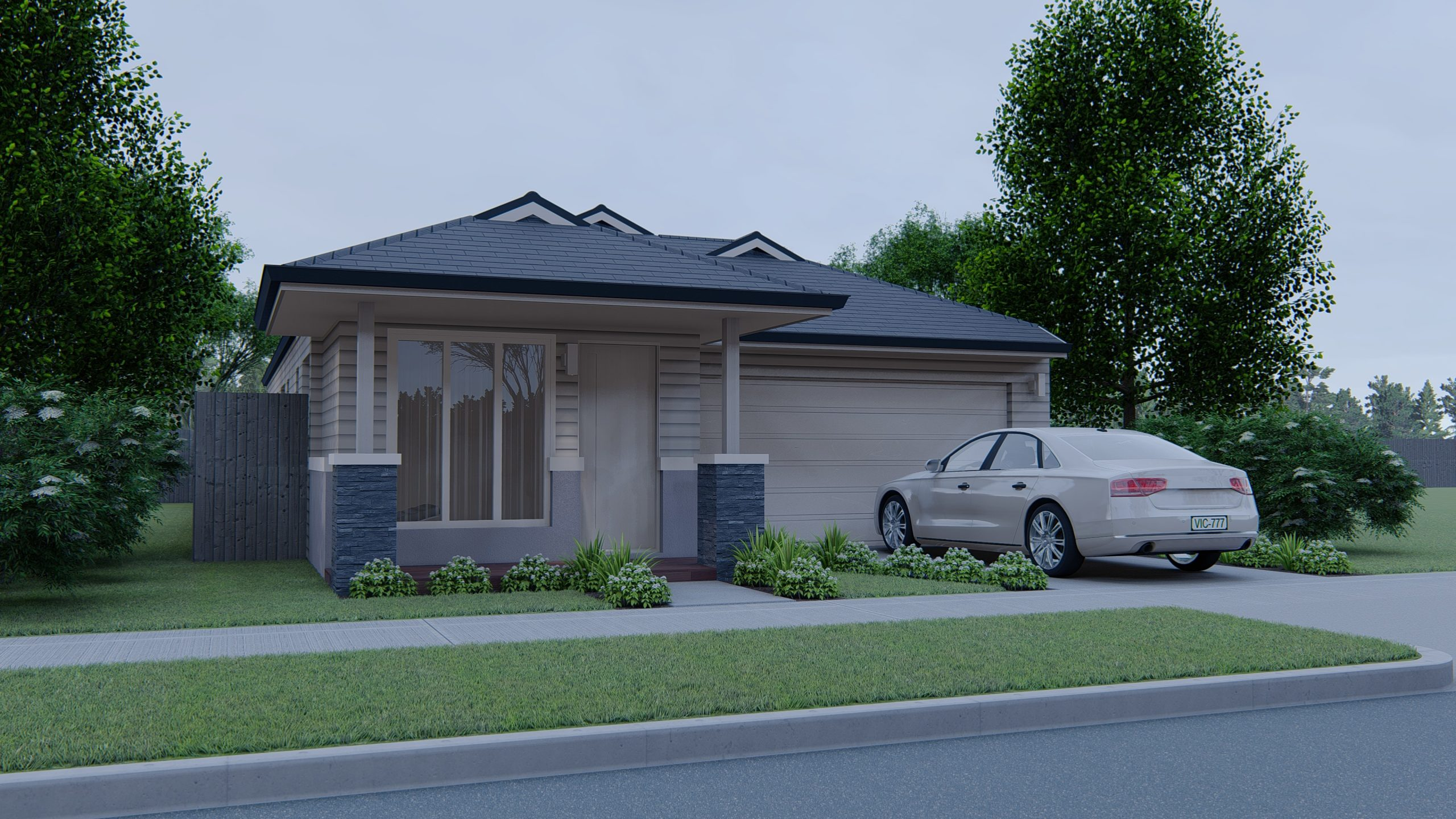 Style 2: 10.5M Width Block with 3 Bedroom Cottage Home